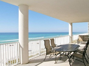 Balcony at Ocean Ritz Condo in Panama City Beach