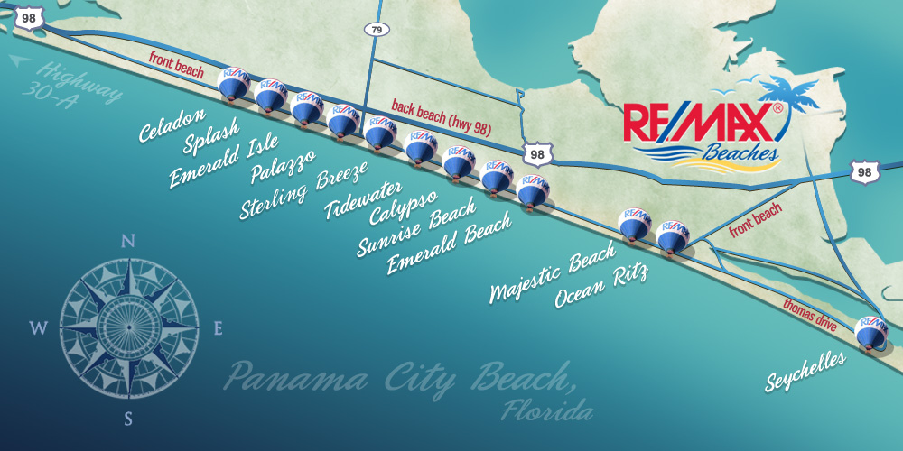 Panama City Beach Condo Map